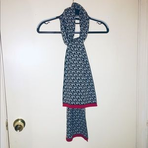 New Michael Kors: Black, Gray & Red Scarf